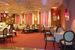 内部红色餐馆 库存图片