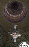 内部细节对扎耶德Mosque,阿布扎比,阿拉伯联合酋长国回教族长的 免版税库存图片