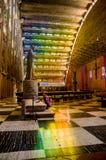 内部罗萨里奥教会在圣萨尔瓦多 免版税库存照片