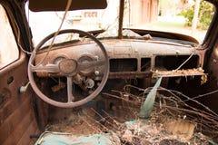 内部老卡车 免版税库存图片