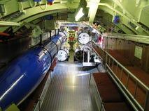 内部老潜水艇 免版税库存图片
