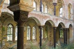 内部老犹太教堂 库存图片