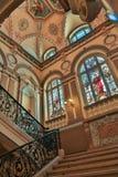 内部老豪华楼梯 库存图片