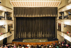 内部表示剧院 免版税库存照片