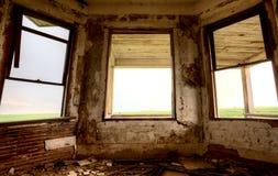 内部被放弃的大厦 库存图片