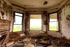 内部被放弃的大厦 免版税库存照片