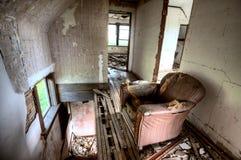 内部被放弃的大厦 免版税库存图片