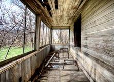 内部被放弃的房子大草原 免版税图库摄影