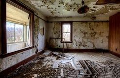 内部被放弃的房子大草原 图库摄影