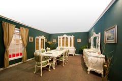 内部装饰业立场和家庭结构 库存图片
