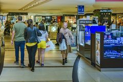 内部购物中心,巴勒莫区,阿根廷 库存图片