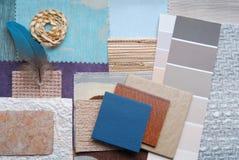 内部颜色设计选择 库存照片