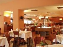 内部餐馆 免版税库存图片