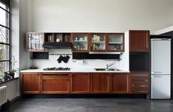 内部,厨房的视图 库存照片