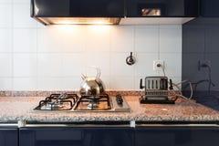 内部,国内厨房 图库摄影
