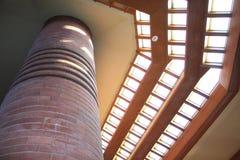 内部,弗兰克・劳埃德・赖特大厦翼幅, Racine威斯康辛 免版税库存图片
