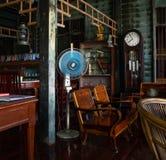 内部,议院coffice商店在曼谷,泰国 免版税库存图片
