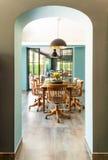 内部,餐厅 免版税图库摄影