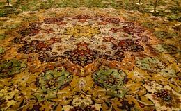内部细节对扎耶德Mosque回教族长的 地毯 阿布扎比, 免版税库存照片