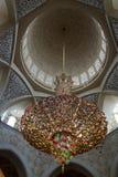 内部细节对扎耶德Mosque,阿布扎比,阿拉伯联合酋长国回教族长的 免版税库存照片