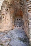 内部细节战士使用的一个古老堡垒的废墟du 库存图片