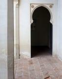 内部Alcazaba堡垒 免版税库存图片