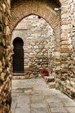 内部Alcazaba堡垒 免版税库存照片