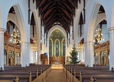 内部Haga教会(Hagakyrkan)在哥特人,瑞典 库存照片