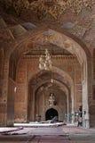 内部khan masjid wazir 免版税库存照片
