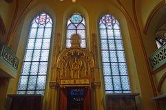 内部maisel犹太教堂,布拉格,捷克共和国 图库摄影