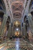 内部o锡耶纳大教堂中央寺院二锡耶纳,中世纪教会,它 库存图片