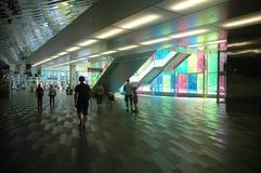 内部Palais des Congrés在蒙特利尔 库存照片