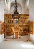 内部Vvedensky寺庙修道院Svyatouspenski,俄罗斯 库存照片
