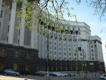 内阁会议在晚上-乌克兰 库存照片