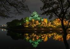 冈山城堡在冈山,日本 库存照片