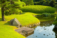 冈山庭院 免版税库存图片