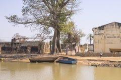 冈比亚城市 免版税库存照片