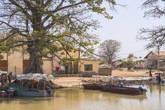 冈比亚城市 库存照片