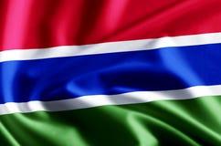 冈比亚旗子例证 皇族释放例证