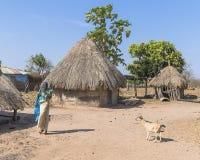 冈比亚村庄 免版税库存图片
