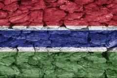 冈比亚纹理旗子  库存照片