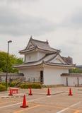 冈崎城堡,爱知县,日本东部壁角塔  免版税库存图片