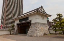 冈崎城堡,爱知县,日本Otemon门  免版税库存图片