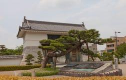 冈崎城堡,爱知县,日本Otemon门  免版税图库摄影