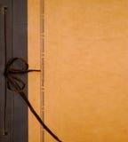 册页古色古香的封面照片 免版税库存照片