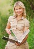 册页女孩照片 图库摄影