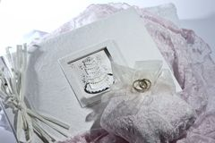 册页婚礼 免版税图库摄影