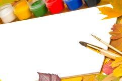 册页掠过框架叶子油漆 库存图片