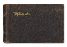 册页查出照片葡萄酒白色 免版税图库摄影