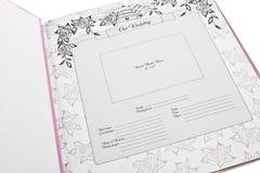 册页照片婚礼 库存照片